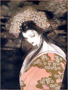 天野喜孝 和风的妖娆美女