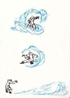 Waterbending doodls by moptop4000.deviantart.com on @DeviantArt