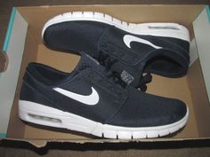 Nike SB Stefan Janoski Max Skateboarding Shoes Mens 13 Obsidian 631303 411 # Nike #Skateboarding