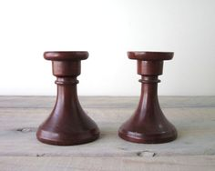 Maple Wood Candlesticks