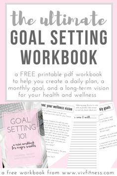 A FREE workbook to help you set goals and improve your health! The ultimate goal setting workbook. Create a plan to improve your health WITHOUT becoming overwhelmed. This is a science-based technique for goal setting that coaches all over the world use!