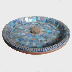 Abstract Mosaic Bird Bath