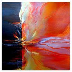 Alison Johnson - delà de l'espace, peinture à l'huile, 80 x 80 cm