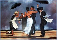Artist has imagination and bound less creativity in his interest or area of art. Black art is also a famous part of painting and many popular artists are also present like John Holyfield and Charles Bibbs. African American Artwork, American Artists, Dancing In The Rain, Rain Dance, Girl Dancing, Black Dancers, Afrique Art, Jazz Art, Black Art Pictures
