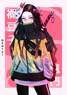 Introducing our newest line of items for the newest anime this year - Demon Slayer (Kimetsu no Yaiba). Just get it all here only in RykaMall and have fun. Anime Neko, Otaku Anime, Kawaii Anime Girl, Manga Kawaii, Chica Anime Manga, Sad Anime, Fille Anime Cool, Art Anime Fille, Cool Anime Girl