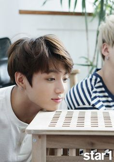Finds yourself a mans who stares at the table the ways jungkook does