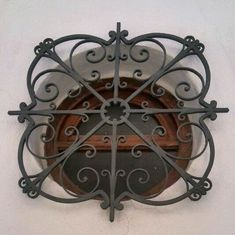 Iron Windows, Iron Doors, Windows And Doors, Iron Window Grill, Window Grill Design, Wrought Iron Decor, Wrought Iron Gates, Balcony Railing Design, Front Door Makeover