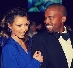 Kim and Kanye, I think she looks fabulous in blue!