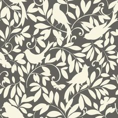 FREE SHIPPING! Shop Wayfair for York Wallcoverings Waverly Cottage Birdsong 20.5' x 20.5  Floral and Botanical Wallpaper - Great Deals on all Decor products with the best selection to choose from!