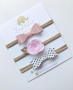 The sweetest baby bows! Perfect for newborn baby girl/ coming home hospitable bag/ baby shower gift. Baby Headband Faux leather Headband Felt Baby Headband Faux