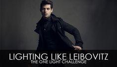 Lighting Like Leibovitz – The One Light Challenge