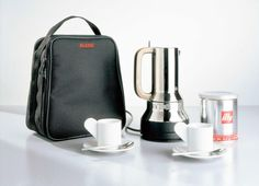 Richard Sapper - RS07 - 2002 - Electrical espresso coffee maker and travel set Alessi