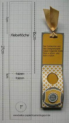 Heute ist es endlich soweit ... mit der dritten Variante dieser kleinen, schönen Verpackungen möchte ich Dir auch wie versprochen die Maße ...