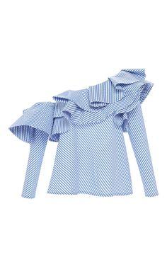 Anastasia One Shoulder Top by JOHANNA ORTIZ for Preorder on Moda Operandi
