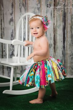 Fabric and lace scrap tutu skirt by SewHookNCut on Etsy