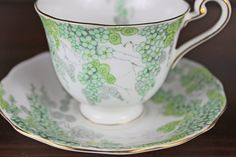Vintage Tea Cup and Saucer  Radford Bone by CashmereJellybean, $34.95, perhaps for Christmas