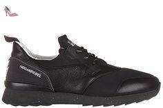 Hogan Rebel chaussures baskets sneakers homme en cuir r261 3d noir EU 43.5 HXM2610U390D8D0XCR - Chaussures hogan (*Partner-Link)