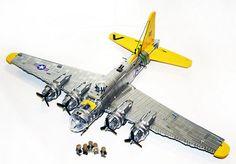 B-17 Flying Fortress - #Metallic #Silver #Lego