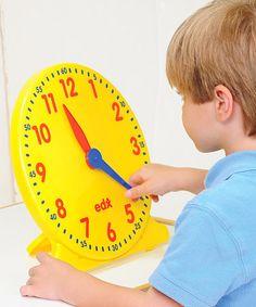 Love this Geared Teaching Clock on #zulily! #zulilyfinds