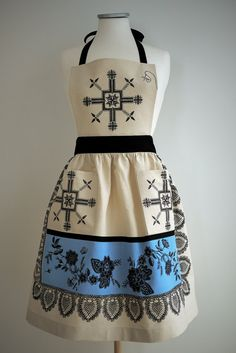 Embroidered Vintage Apron