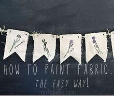 The easy way to paint fabric--idea for DIY wedding decor.