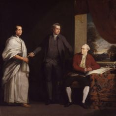 Omai with Sir Joseph Banks and Daniel Solander Charles  William Parry (1776)