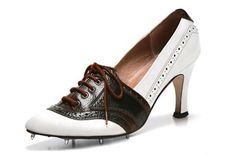 High heels with spikes? Alright, ladies. Now you have no excuse. #Golf