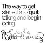 begin doing.