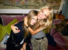 Cara and Poppy Delevingne
