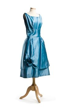 https://flic.kr/p/cTBMu7 | Cocktail dress, c. 1960, Lorrie Deb | Blue satin cocktail dress, c. 1960. Specializing in ready-to-wear, hip fashions in the 1950s & 1960s, Lorrie Deb / San Francisco designed this cute little dress.   From the collections of the Charleston Museum, Charleston, South Carolina.