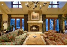 This has to be the ultimate family room! $8,950,000 Aspen, CO Listed by Coldwell Banker Mason Morse Real Estate.