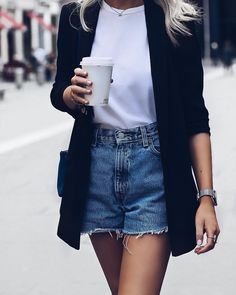 22 Elevated Outfit Ideas For Your Denim Shorts
