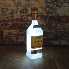 reupcycled jose cuervo tequila bottle lamp by reupcycled | notonthehighstreet.com