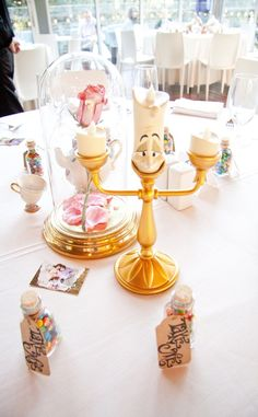 She's even put Sleeping Beauty's castle at the head table