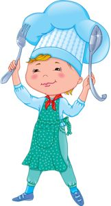 Baby cook with fork and spoon [преобразованный].png