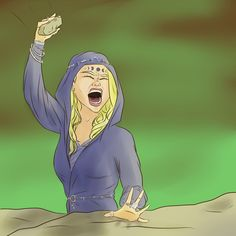 Ianthe smashing her hand in ACOWAR