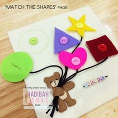 quiet book - match the shape page