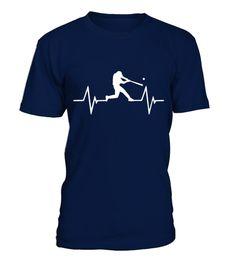 Baseball Heartbeat T Shirt best sport team player gift