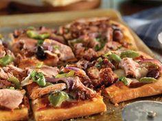 Pork Tenderloin and Sausage Flatbread - Pork Be Inspired