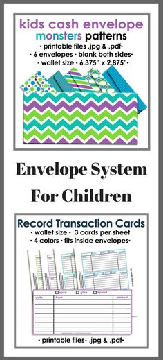 Printable cash envelope budgeting system for children.  Set your kids up for success by teaching them how to manage money early in life! #ad #budget #budgeting #envelopesystem #financialliteracy