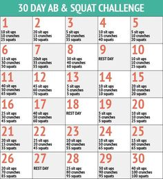 """30 day ab and squat- to kick start my """"refocus on taking care of myself"""" present/promise I got myself for Christmas"""