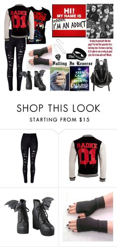 """""""Falling In Reverse"""" by nikkyvanderoer ❤ liked on Polyvore featuring WithChic"""
