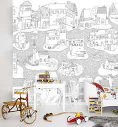 wallpaper for the boys room. Murals, wallpaper from Mr. Perswall Sweden. you can also design and upload your own