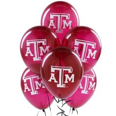 No party is complete with a few maroon Texas A&M balloons.
