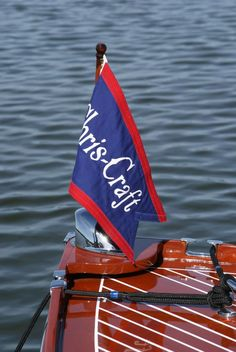 This is a photo I took of the pennant on a Chris Craft Utility on Lake Geneva. The x photo is mounted on a flat black x mat with a x opening. Vintage Prints, Vintage Photos, Utility Boat, Chris Craft Boats, Classic Wooden Boats, Nautical Christmas, Nautical Compass, Vintage Boats, Wood Boats