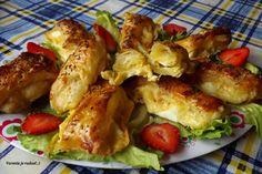 Syrová bomba s lístkového cesta Starters, Shrimp, Snacks, Meat, Chicken, Food, Pump, Hampers, Appetizers