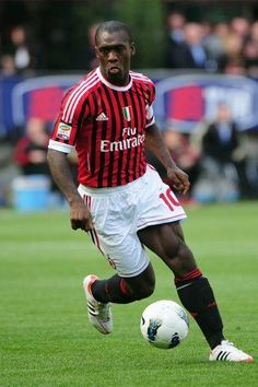 ~ Dutch International Clarence Seedorf on AC Milan wearing Adidas AdiPure ~
