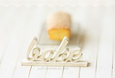Dollhouse Miniature - Wood Letters - BAKE-dollhouse miniature wood letters
