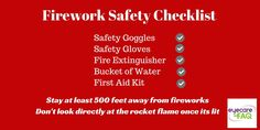 Are you having a fireworks display this year? Take care of your eyes