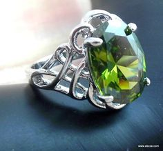Bold Lab Peridot Ring in 14kgf, s8 is going up for auction at  6am Sat, May 18 with a starting bid of $5.